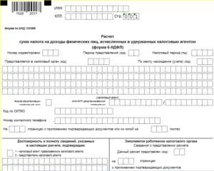 Строка 100 формы 6-НДФЛ: порядок заполнения в 2019 году