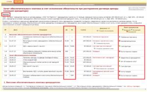Бухгалтерские проводки по обеспечительному платежу по договору аренды