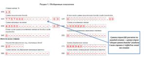 Как заполнить строку 100 расчета по форме 6-НДФЛ