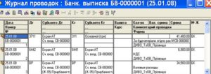 Банк проводок