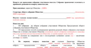 Способ подтверждения решения участниками ООО