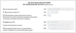 Особенности заполнения декларации по земельному налогу