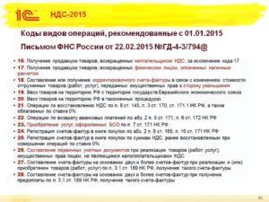 Опубликованы новые коды видов операций по НДС