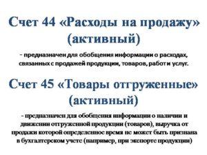 Счет 45 Товары отгруженные
