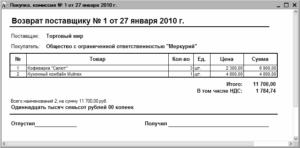 Бухгалтерские отчеты по возврату и утилизации некачественного товара за счет поставщика иностранца