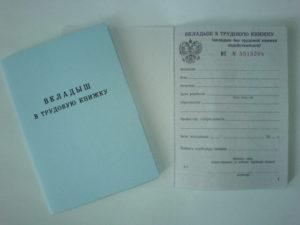 Трудовая книжка российского образца с украинским вкладышем