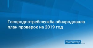 Опубликован план проверок бизнеса на 2019 год