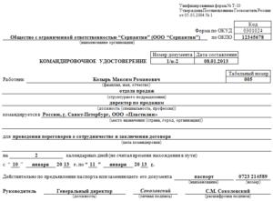 Документы для оформления командировки в 2019 году: бланки, образцы, порядок заполнения