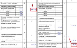 4 ФСС таблица 1