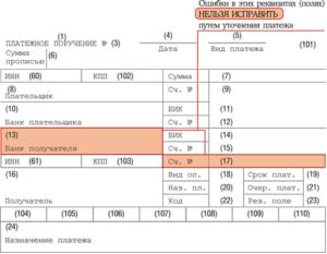 Ошибка в КБК при перечислении авансового платежа