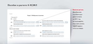 Как отразить больничный лист в 6-НДФЛ
