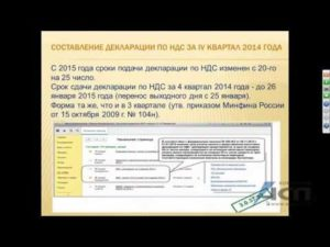 Сдача декларации по НДС с 2015 года