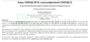ОКВЭД-2 с расшифровкой