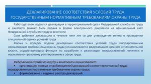 Нужно ли подать декларацию о соответствии условий труда в государственную инспекцию труда?