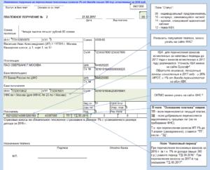 Образец платежки на уплату взносов в ПФР в 2014 году