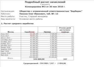 Расчет зарплаты при командировке