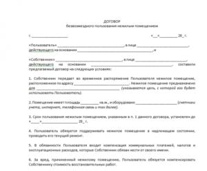 Соглашение о совместном использовании помещения