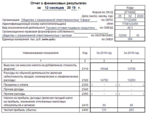 КНД 0710096: бухгалтерская отчетность