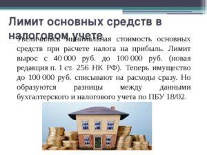 Лимит по основным средствам в бухучете останется в размере 40 000 рублей