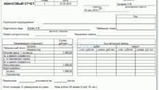 Авансовый отчет работника по подотчетным суммам