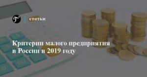 Критерии малого бизнеса в России на 2019 год