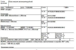Платежное поручение ИП в ПФР по взносам за себя 2016 образец