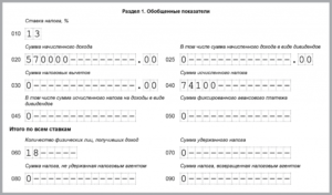 Заполнение строки 060 формы 6 НДФЛ