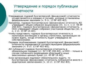 Требования к обязательным сведениям годового отчета ООО