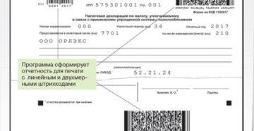 Программа «Упрощенка» распечатает декларации с верными штрихкодами