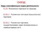 Коды ОКВЭД 2019