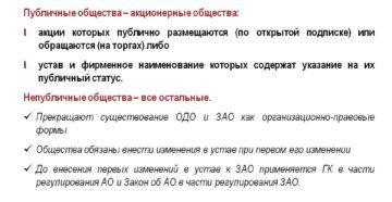 Обязательно ли с 1 сентября вносить изменения в название ООО, публичные или не публичные